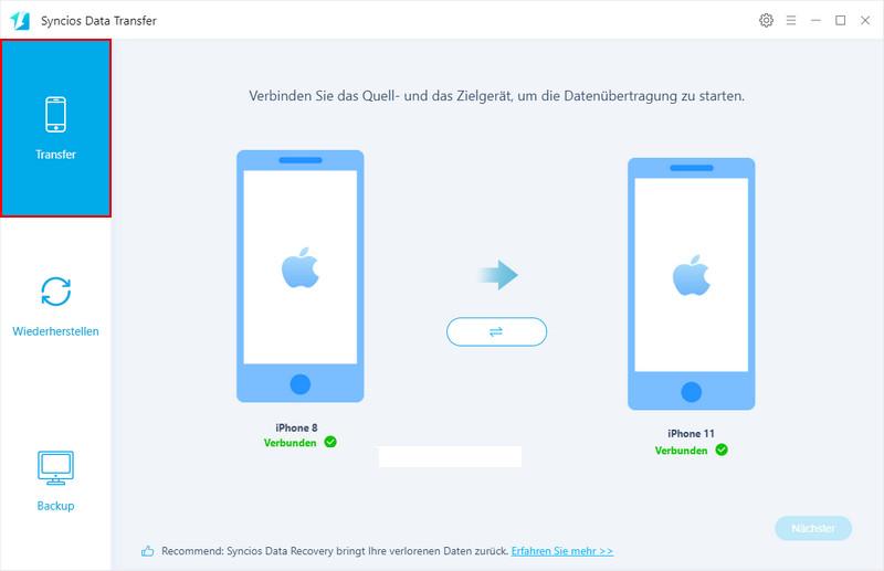 von android zu iphone daten übertragen